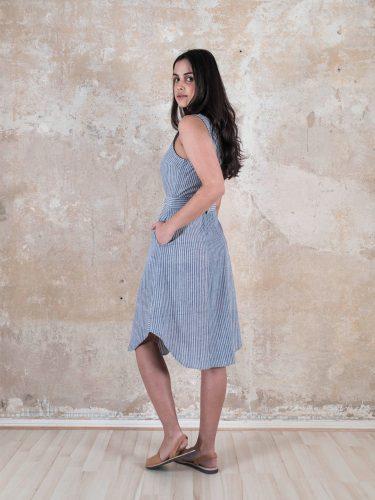 _0009_Jyoti-Fair-Works-Naturmode-Vegan-Sommer-Kleid-Kavita-gestreift-1