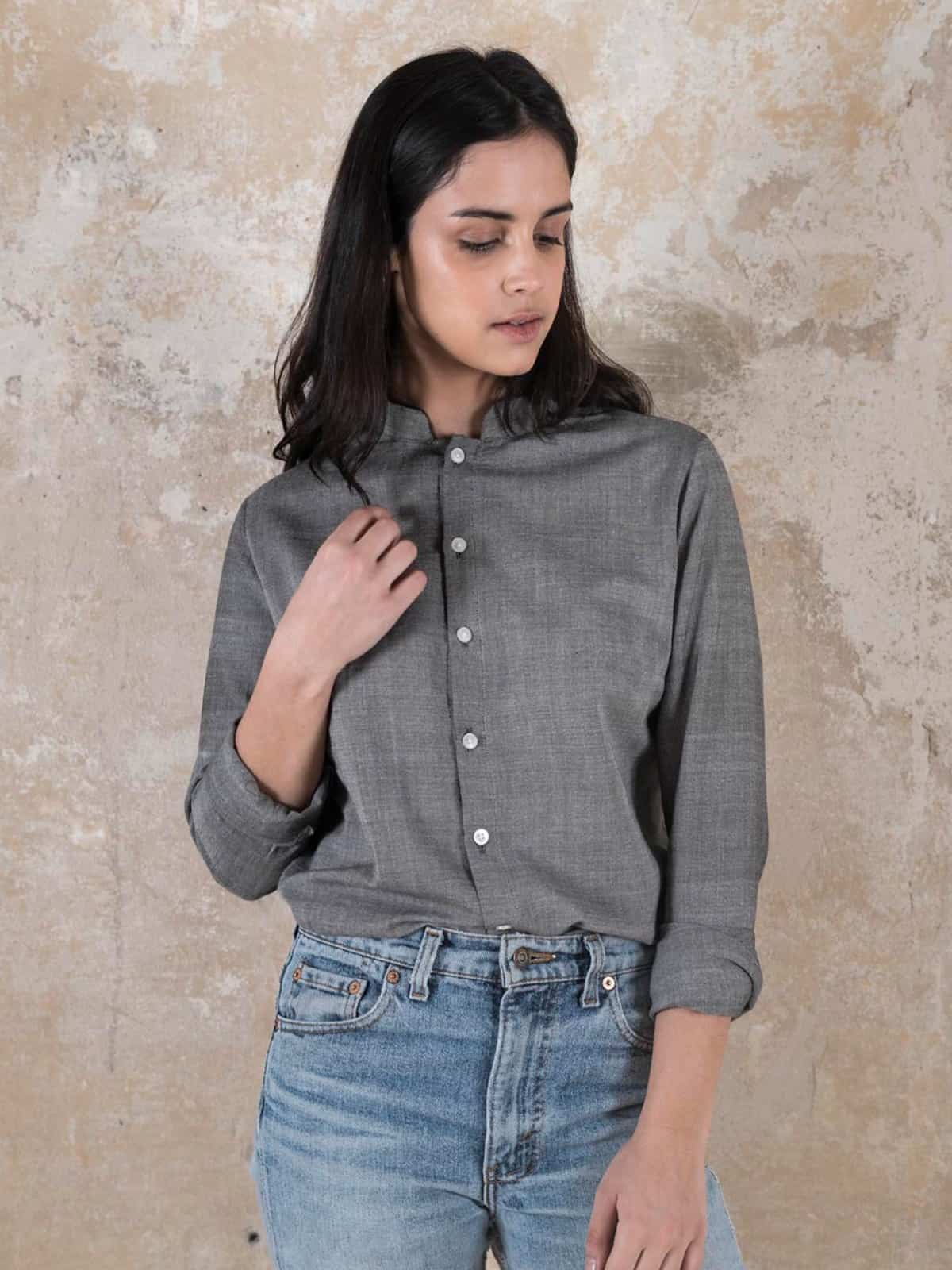 Blouse Benisha  Grey from Jyoti - Fair Works