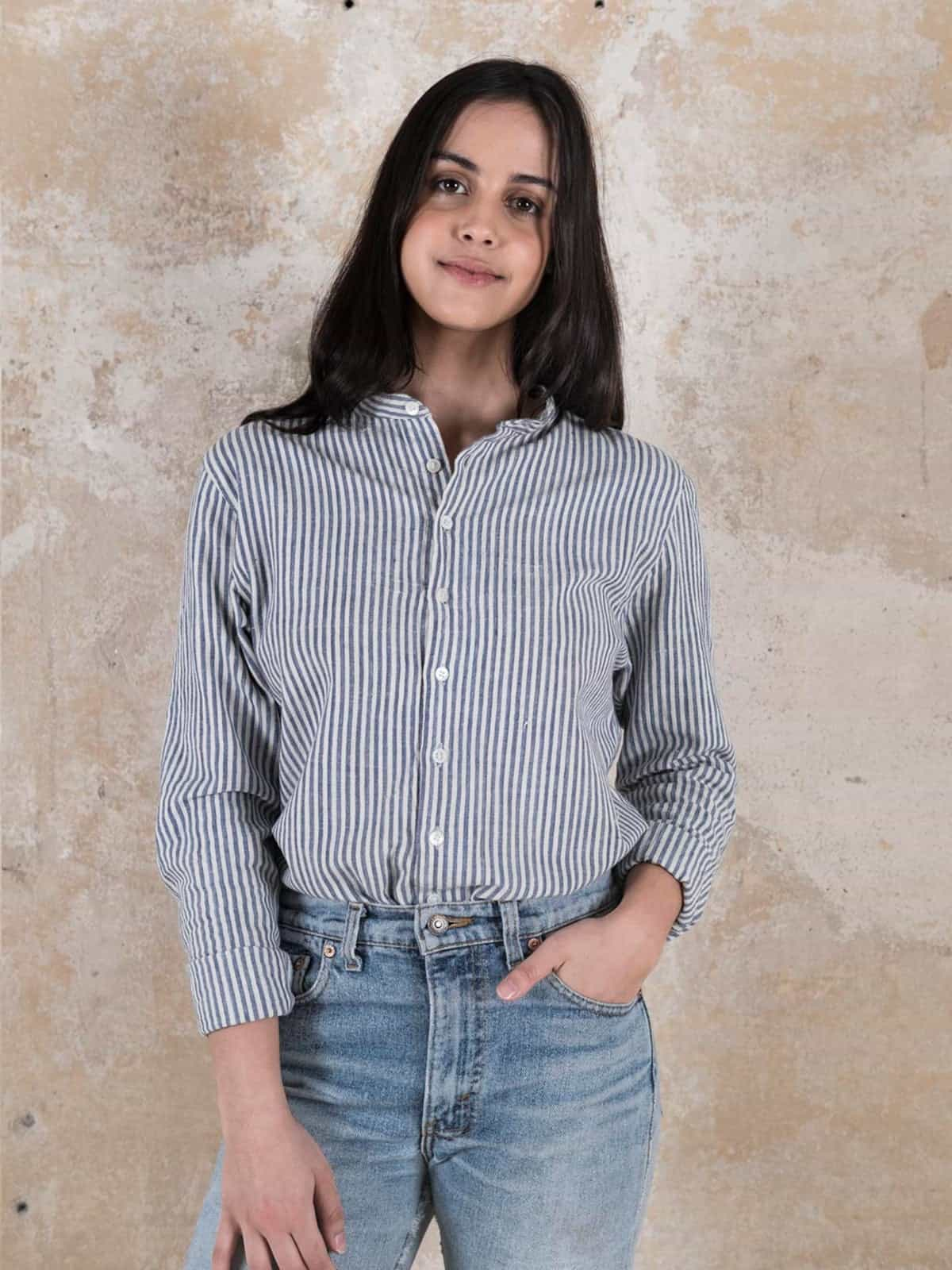 Shirt Harish Striped_grey from Jyoti - Fair Works