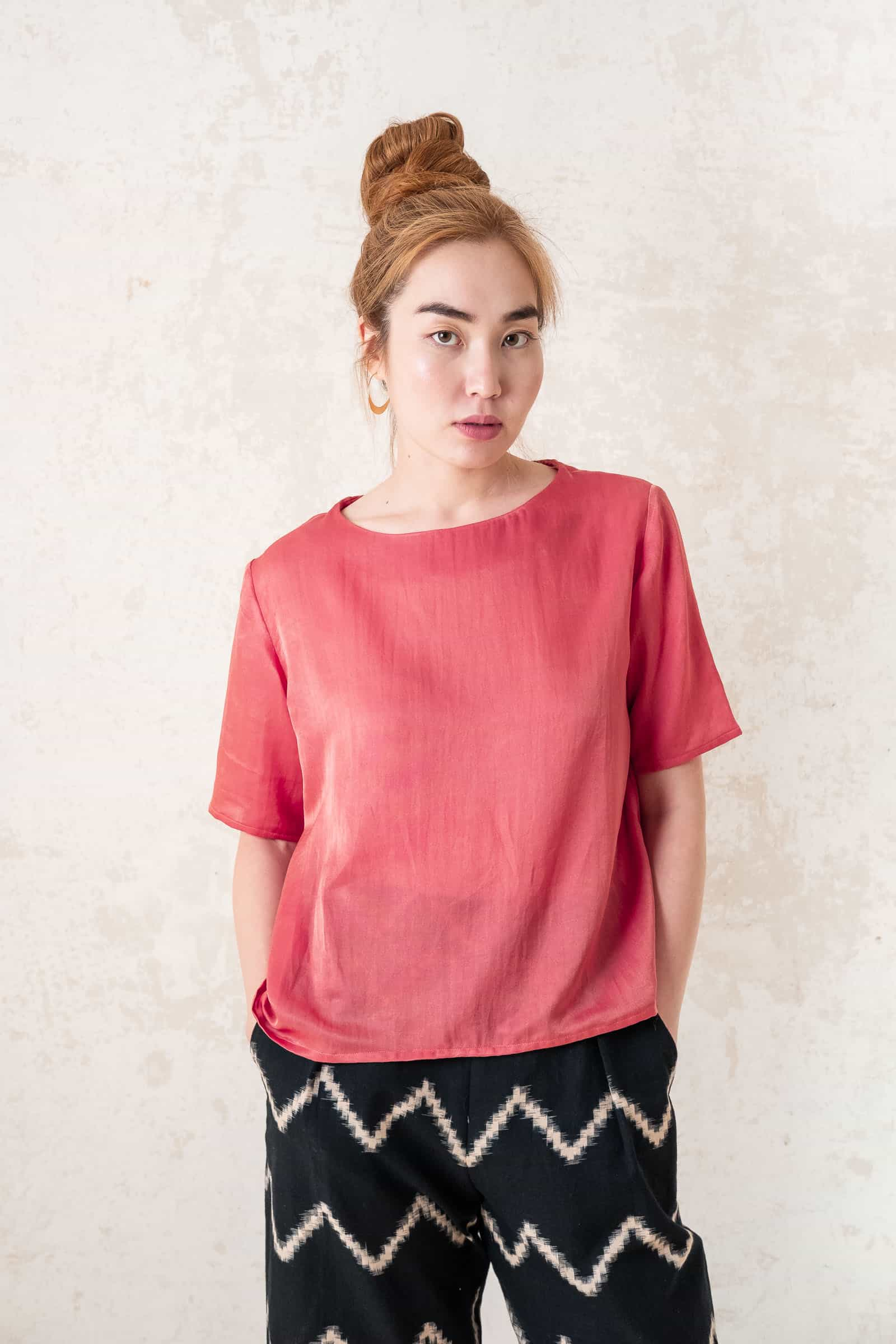 Shirt Sarala  Raspberry from Jyoti - Fair Works