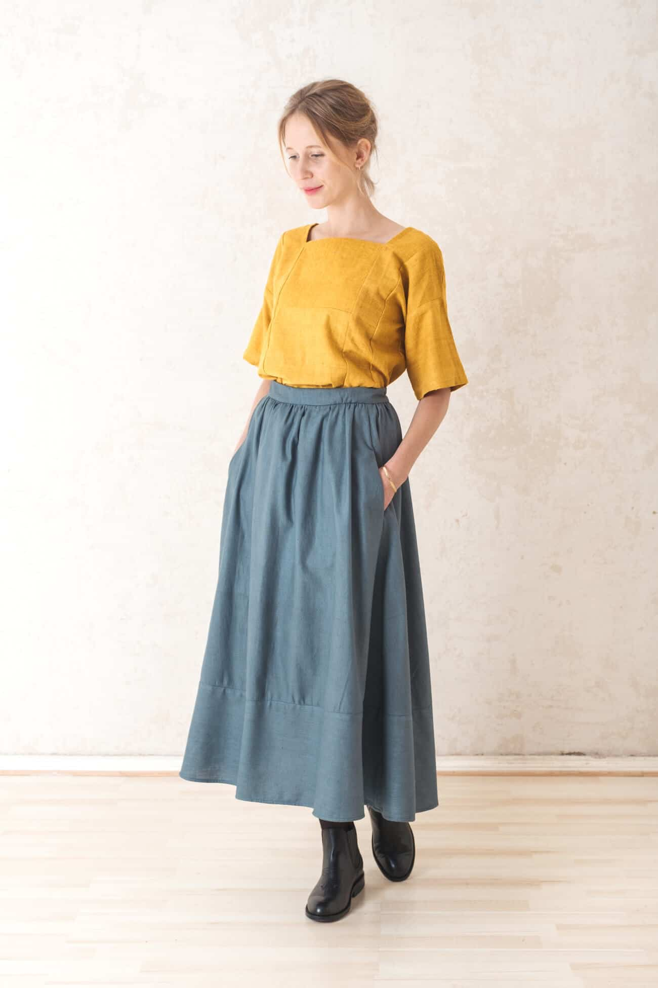 Skirt Aasman  Lakeblue from Jyoti - Fair Works