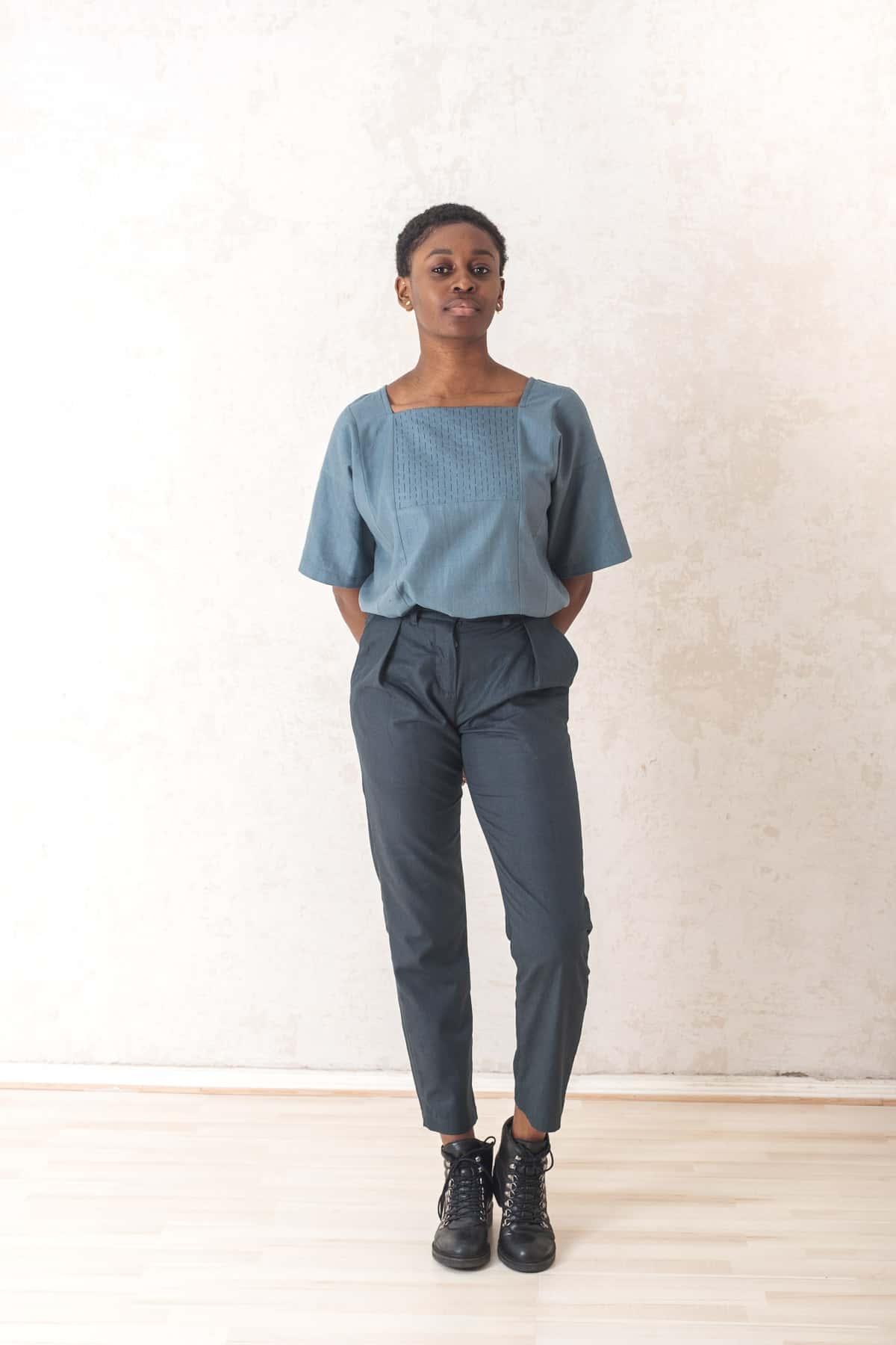 Trousers Hiranya  firgreen from Jyoti - Fair Works